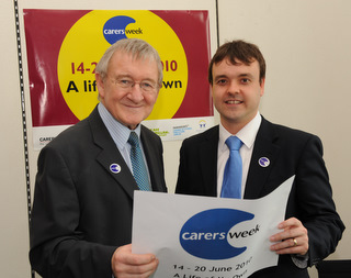 Carers' Week - Stephen with Dr Chris Steele